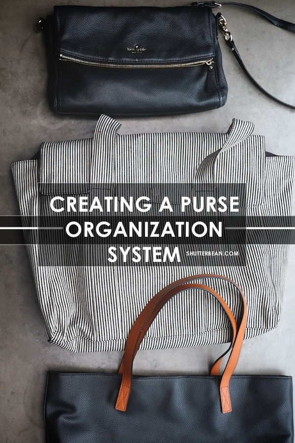 Feel like you can never keep your purse organized? This post is for YOU! Check out a new way of thinking about organizing your purses so you don't have to waste time organizing your stuff. More on shutterbean.com!