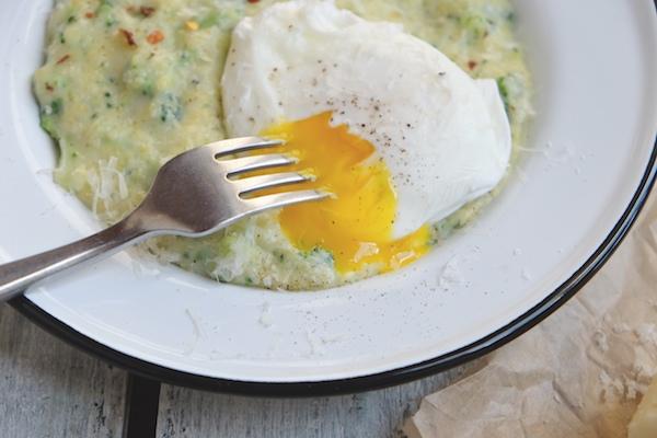 Broccoli Pesto Polenta || shutterbean
