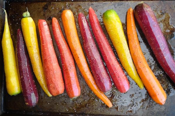 Roasted Carrots with Chile Yogurt & Cilantro Sauce || shutterbean