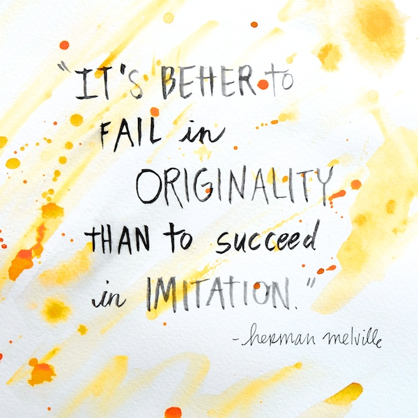 It's better to fail in originality // shutterbean