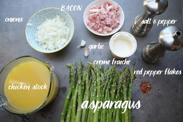 Creamy Asparagus & Bacon Soup // shutterbean