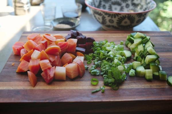 Beet & Avocado Poke // shutterbean