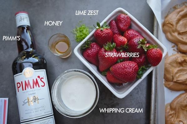 Brown Sugar Meringues with Strawberries & Cream // shutterbean