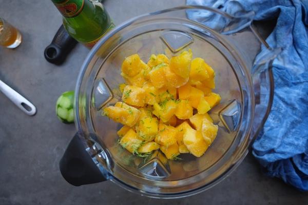 Ginger Mango Lime Sorbet // shutterbean