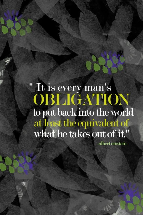 It is every man's obligation // shutterbean