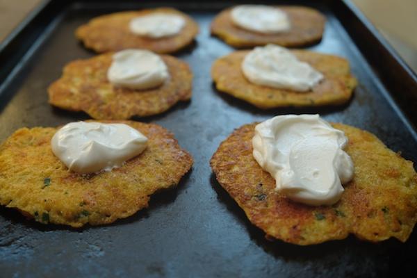 Cheddar Chive Cornmeal Pancakes // shutterbean