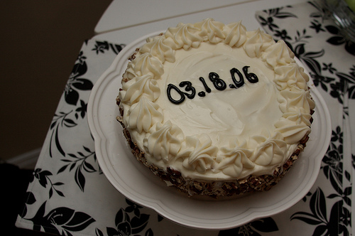 Happy Anniversary Carrot Cake!