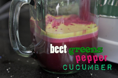 Beet Greens, Pepper & Cucumber Juice