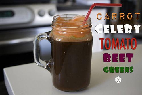 Carrot Celery Tomato Beet Greens Juice