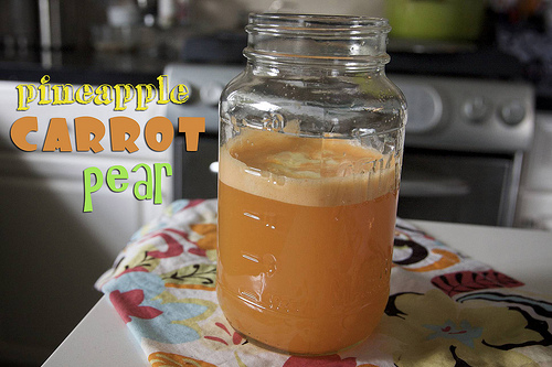 Pineapple Carrot Pear Orange Juice