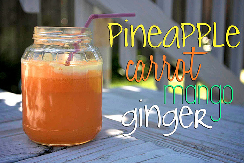 Pineapple Mango Carrot Ginger Juice