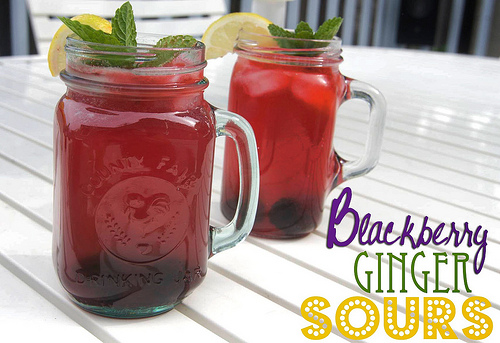 Blackberry Ginger Sours