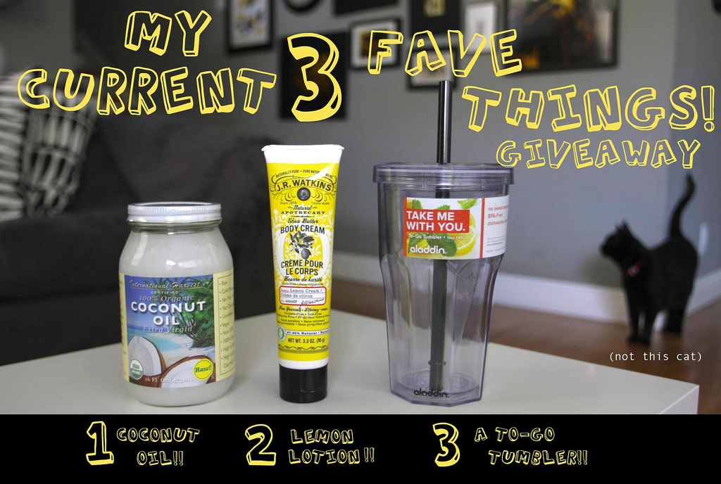 My Current 3 Fave Things! Giveaway!