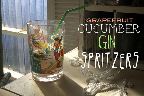 Grapefruit Cucumber Gin Spritzers