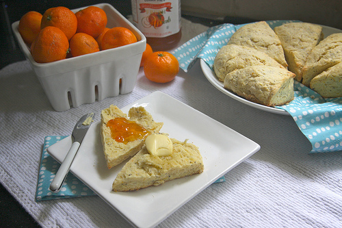 Orange Poppy Scones