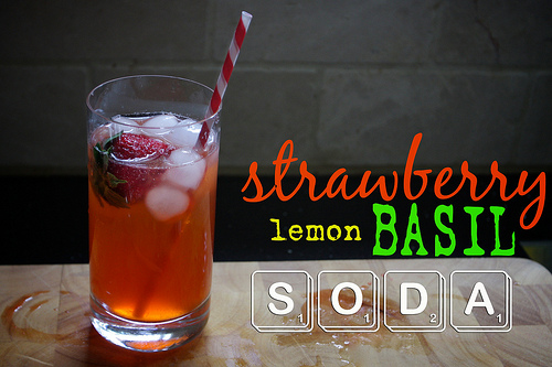 Strawberry Lemon Basil Soda