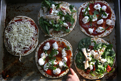Quick Dinner Idea: Pizza & Salad