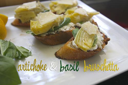 Artichoke & Basil Bruschetta
