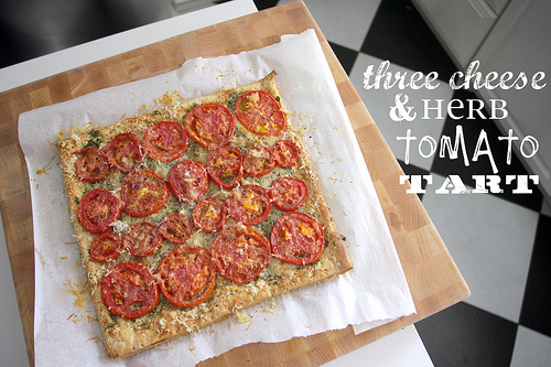 Three Cheese & Herb Tomato Tart