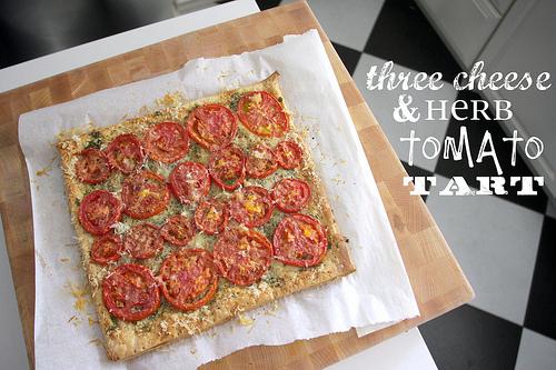 Three Cheese & Herb Tomato Tart