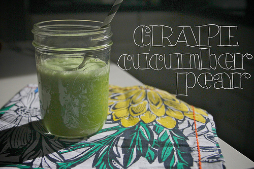 Grape Cucumber Pear Juice