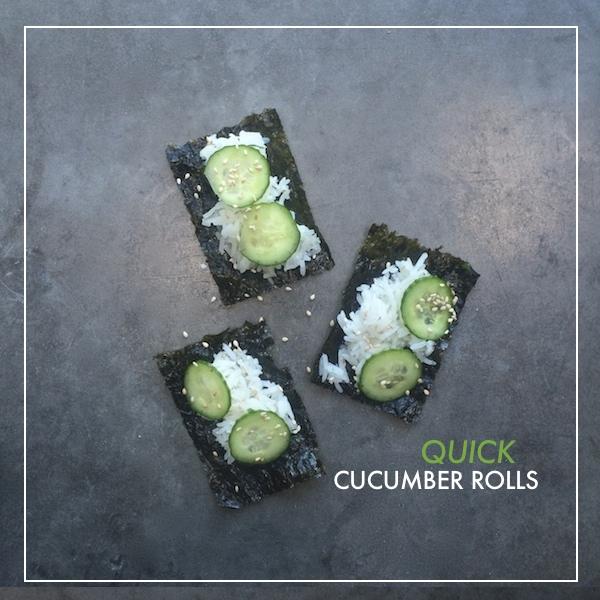 Quick Cucumber Rolls