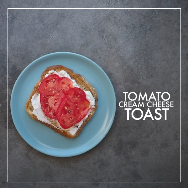 Tomato Cream Cheese Toast