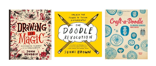 Inspiring Books to Get You Drawing. A collection to get you loving drawing again! // shutterbean