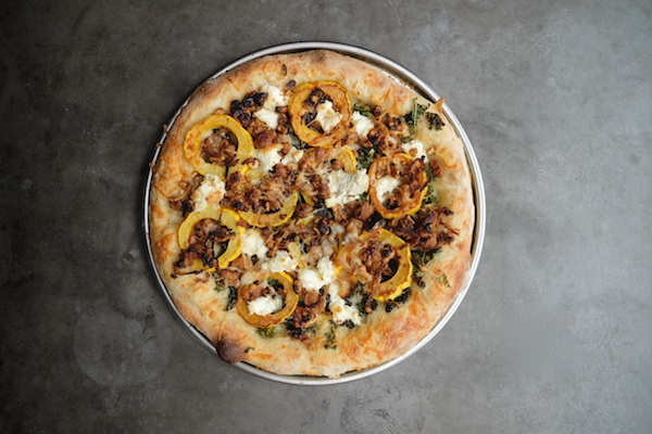 Roasted Delicata Squash Kale Pizza
