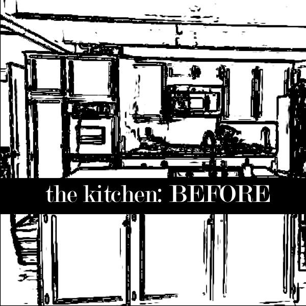 Around the House: Kitchen {BEFORE}