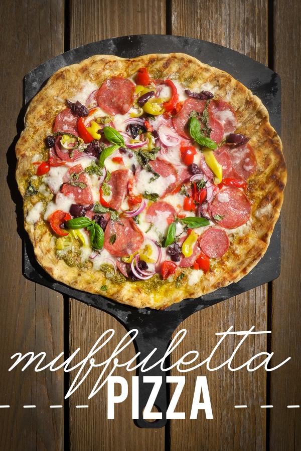 Turn the classic muffuletta sandwich into a pizza with this Muffuletta Pizza. Find the recipe on Shutterbean.com!