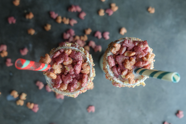 Surprise someone special with Berry Cereal Milkshakes. They're incredible! Find the recipe on Shutterbean.com!