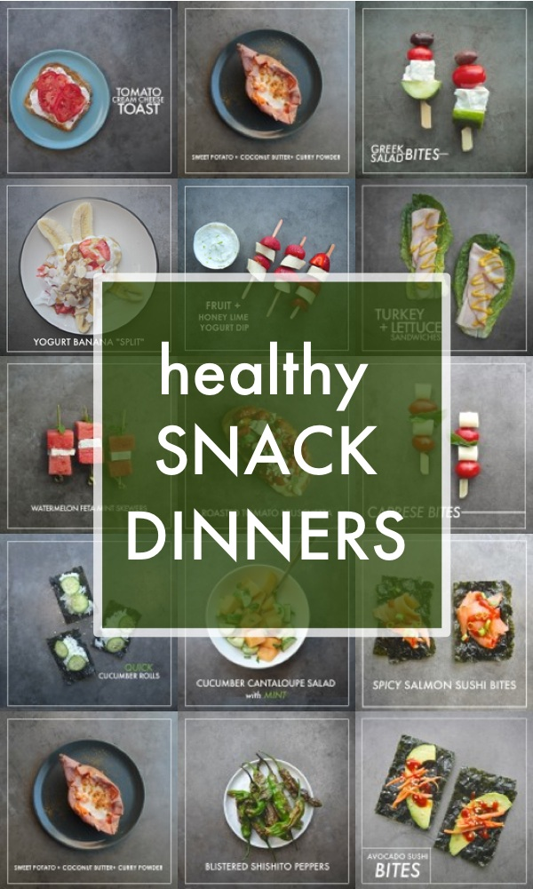 Don't feel like cooking? NO PROBLEM! Here's a collection of Healthy Snack Dinner Ideas. Find more on Shutterbean.com!