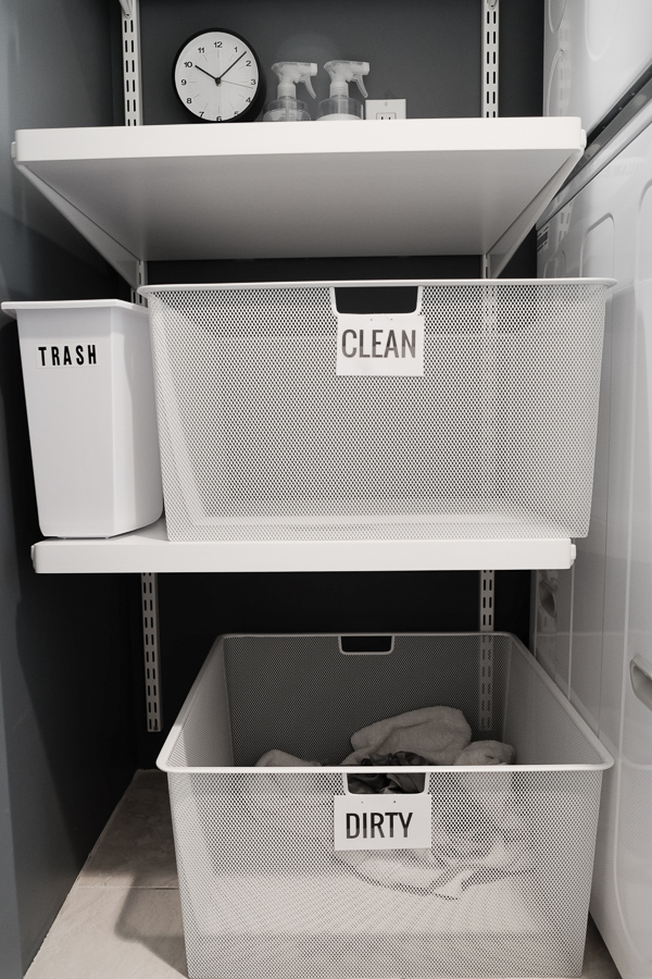 Around the House: Laundry Closet Makeover. Check out more on Shutterbean.com!