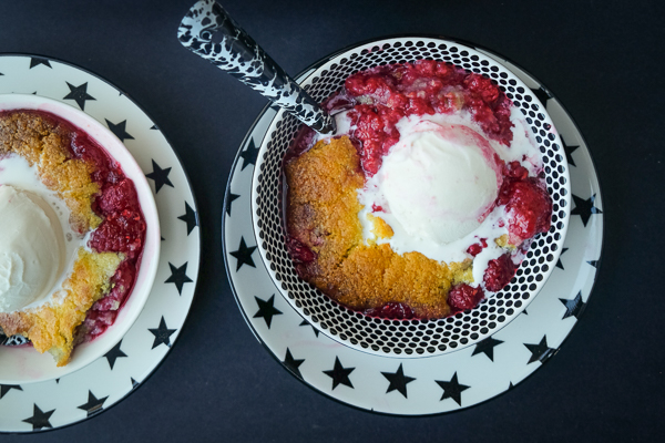 Raspberry fans! This Raspberry Cornmeal Cobbler is for YOU! Check out the recipe on Shutterbean.com