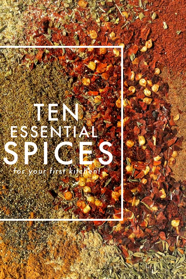 10 Essential Spices for your first kitchen! Find more on Shutterbean.com