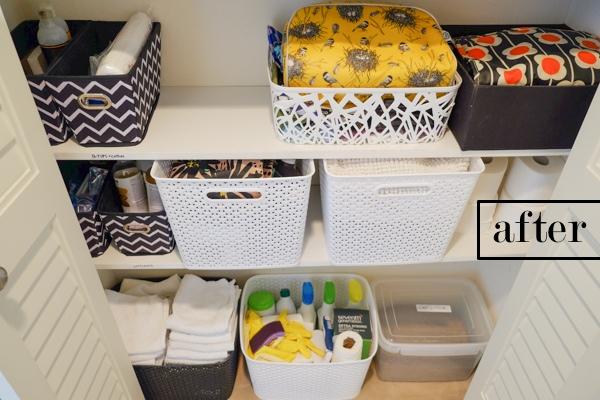 Linen Closet Organization! See more on Shutterbean.com