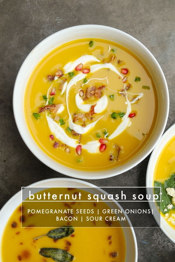 Turn Imagine's Organic Butternut Squash Soup into 8 different soups with toppings! Find all of the soup inspiration on Shutterbean.com!