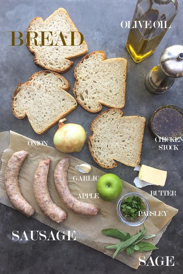 Bread Sausage Apple Hash