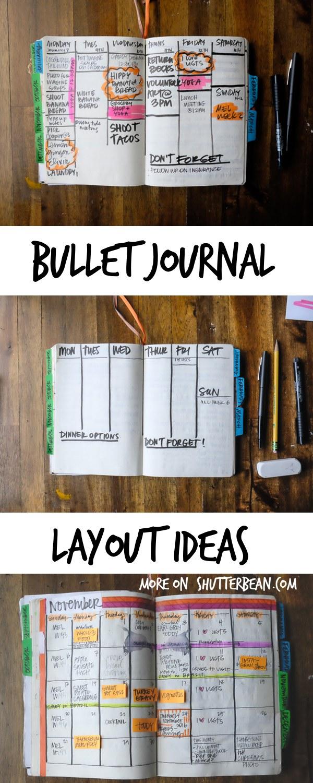 Bullet Journal Layout Ideas - see more on Shutterbean.com!