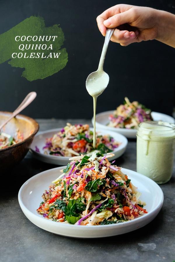 Coconut Quinoa Coleslaw