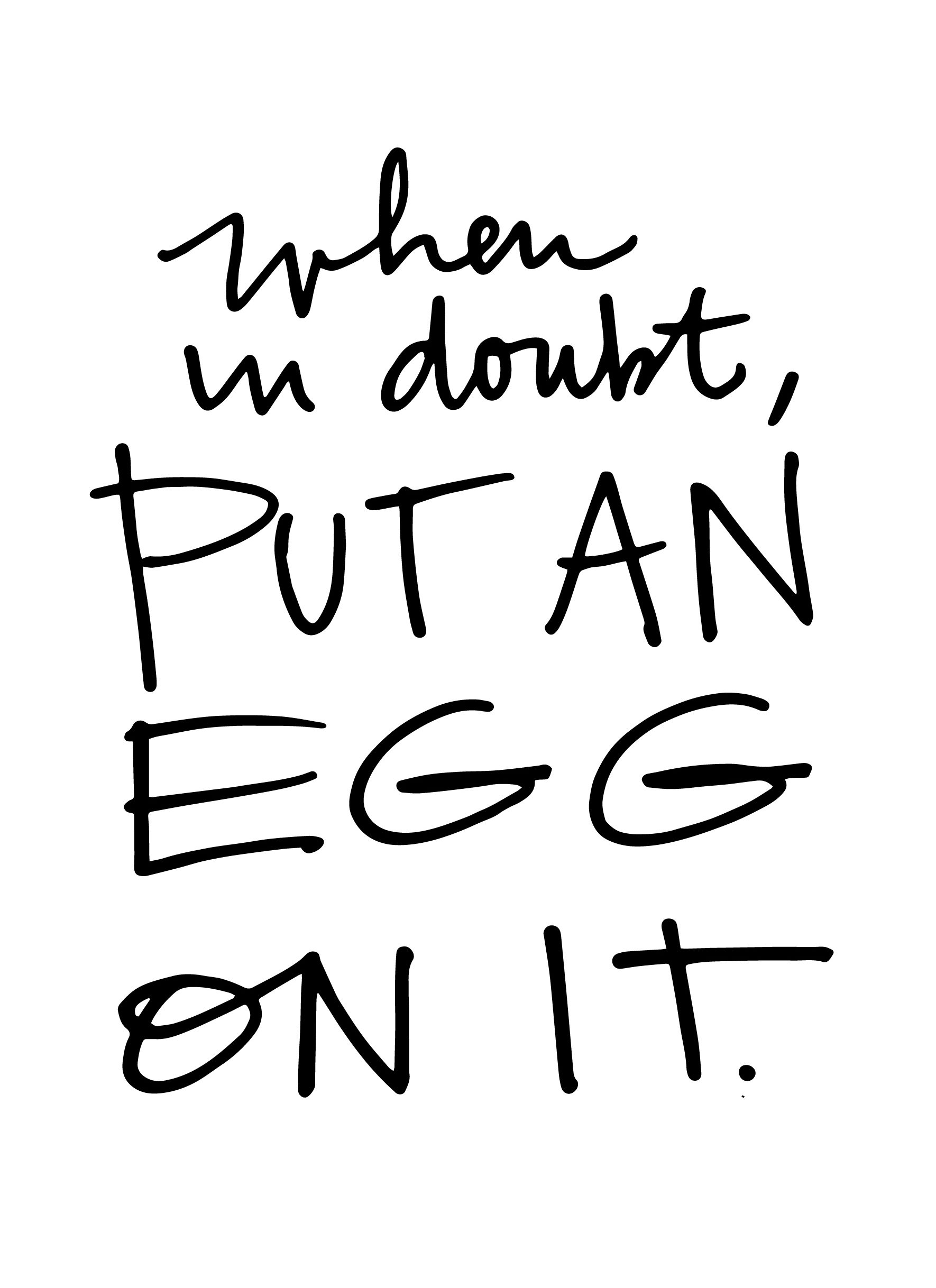 When in doubt, Put an Egg on It! Check out some easy egg ideas on Shutterbean.com
