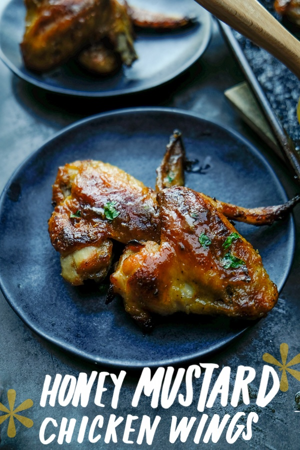 Honey Mustard Chicken Wings for a quick and easy weeknight dinner! Find the recipe on Shutterbean.com