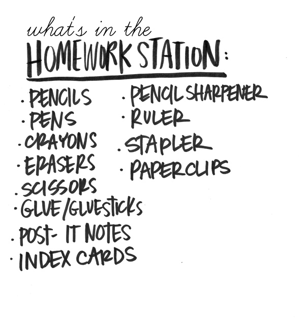 Creating a Homework Station is a great way to get yourself ready for the new school year! See more on Shutterbean.com