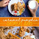 Find the recipe for Caramel Pumpkin Oatmeal Bars on Shutterbean.com!