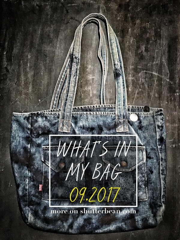 What's in my Bag – 09/2017