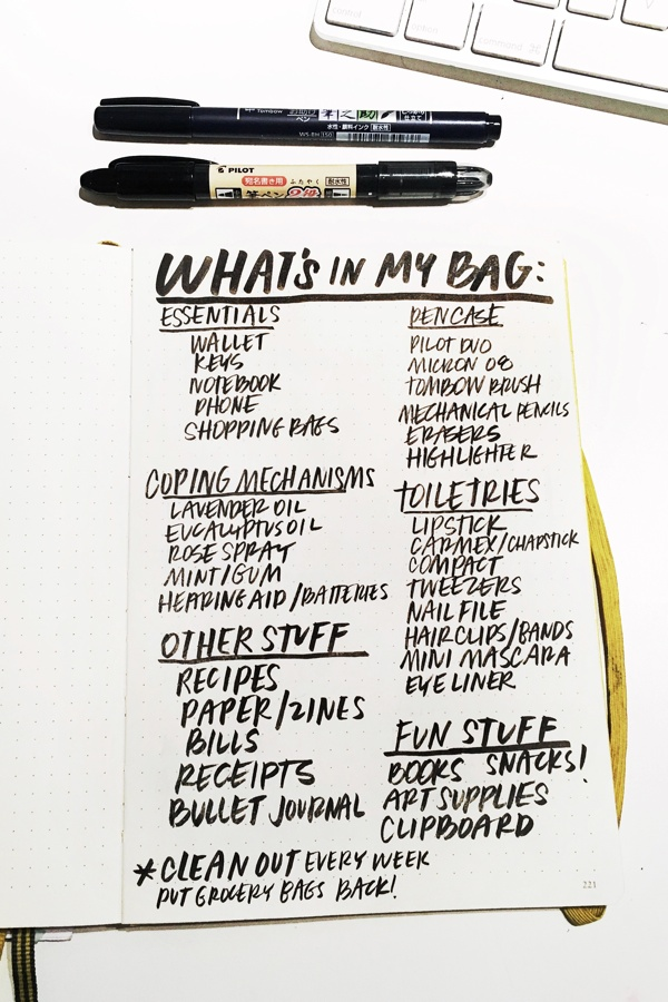 What's in My Bag? Take a look inside Tracy's bag on Shutterbean.com!