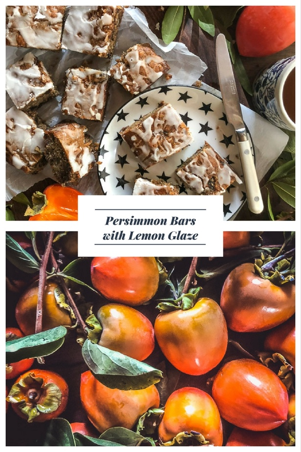 Have a bunch of persimmons to use up? Try these Persimmon Bars with Lemon Glaze! Recipe on Shutterbean.com