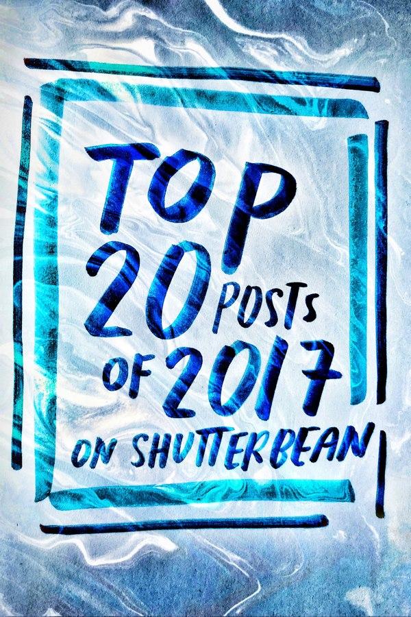 Top 20 Posts of 2017 on Shutterbean.com!