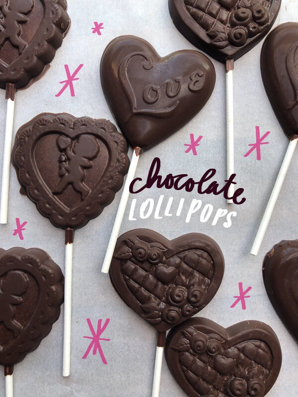 Tracy from Shutterbean shows how she makes Chocolate Lollipops! Heart shaped